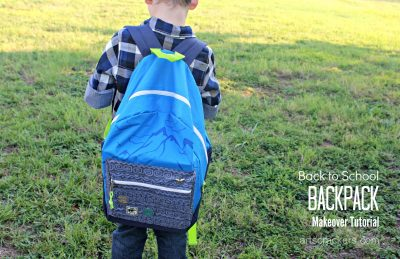 Back to School Backpack Makeover Tutorial with Oshkosh Bgosh