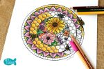 FREE Honey Bee Hive Mandala Adult Coloring Page