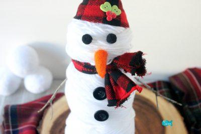 Yarn Snowman Cover