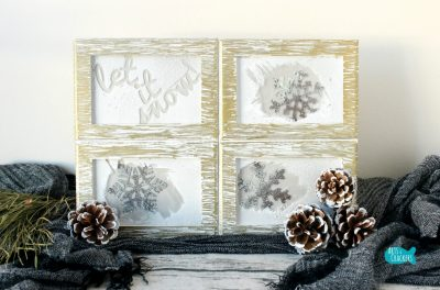 Frosted Frames Winter Home Decor Cover