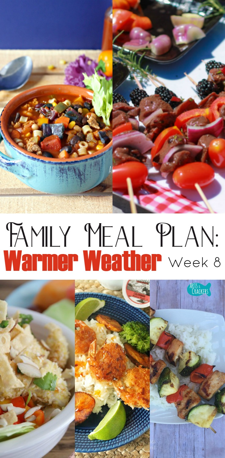 Meal Planning Ready For Warm Weather Week 8 Arts Amp Crackers