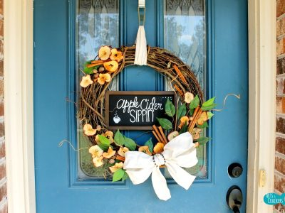 Apple Cider Fall Wreath Middle